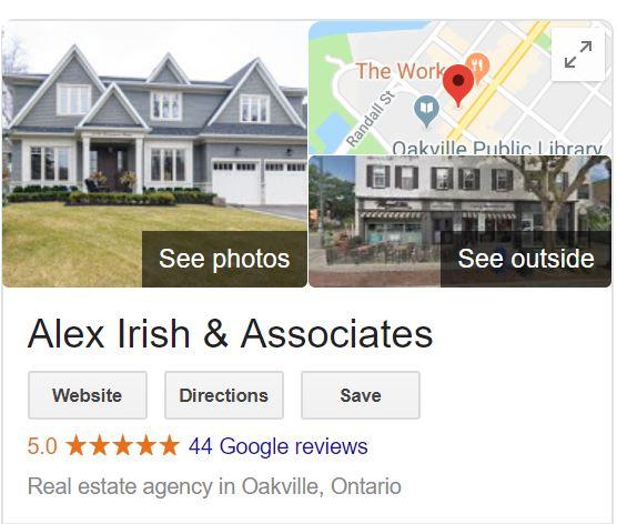 Google My Business Alex Irish Sothebys