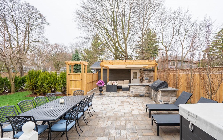 Backyard space featured at 199 Allan Street, Old Oakville, ON at Alex Irish & Associates
