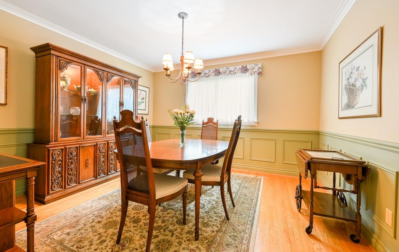 Dining room featured at 1466 Bunsden Avenue, Mississauga, ON at Alex Irish & Associates