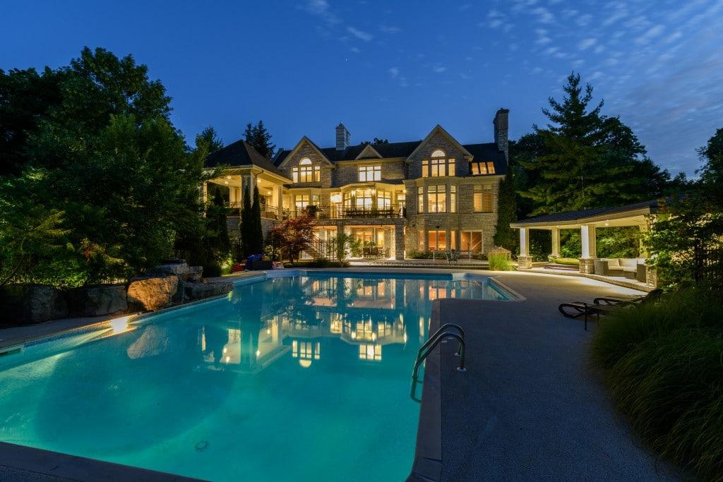 Swimming pool featured at 302 Burgundy Drive, Southeast Oakville, ON at Alex Irish & Associates