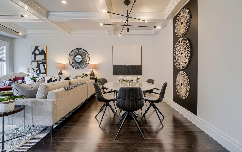 Dining room featured at 3342 Moses Way, Burlington, ON at Alex Irish & Associates