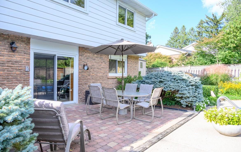 Backyard featured at 1466 Bunsden Avenue, Mississauga, ON at Alex Irish & Associates