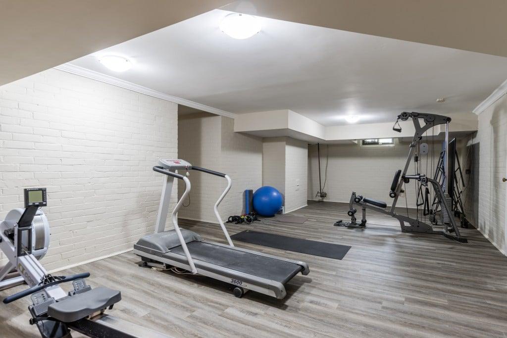Gym featured at 429 MacDonald Road, Oakville at Alex Irish & Associates