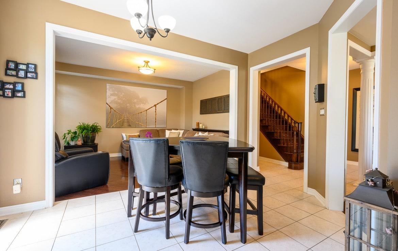 Dining room featured at 379 Pettit Trail, Milton, ON at Alex Irish & Associates