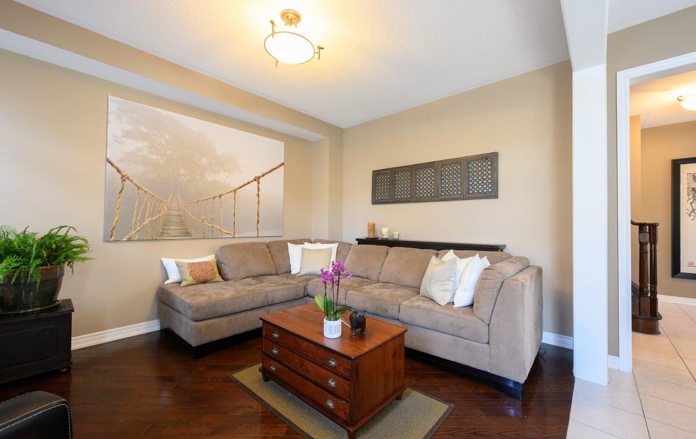 Living room featured at 379 Pettit Trail, Milton, ON at Alex Irish & Associates