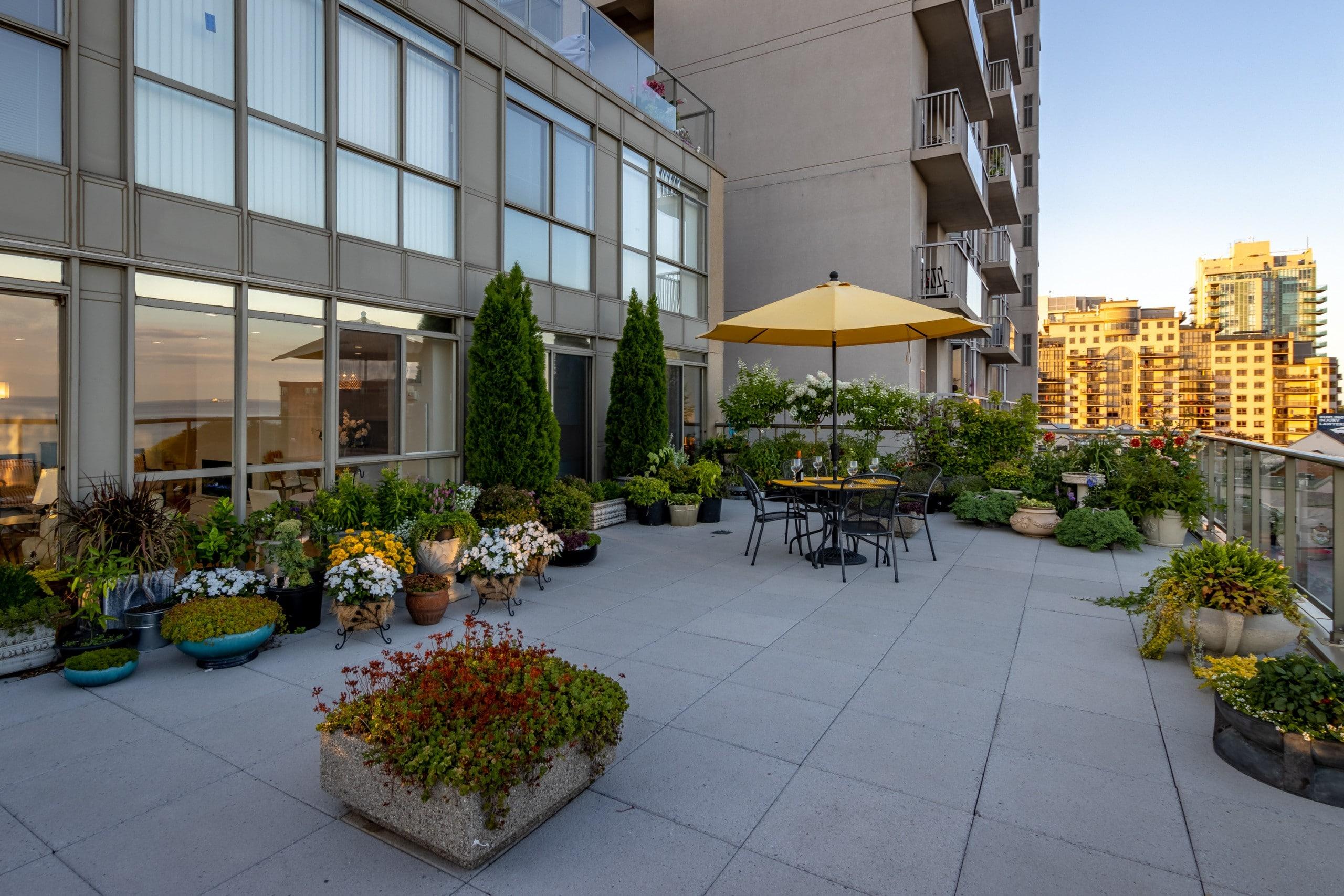 Balcony featured at 508 – 415 Locust Street, Burlington, ON at Alex Irish & Associates