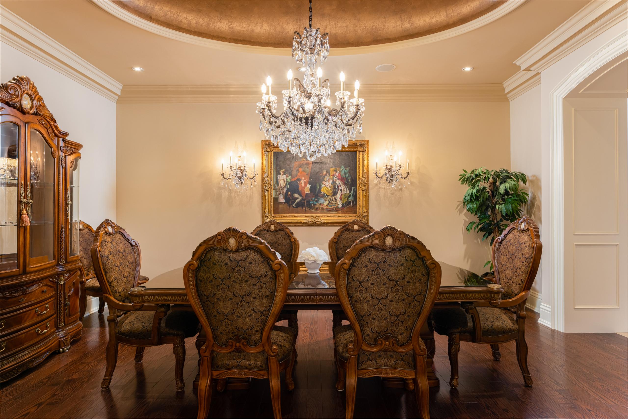 Dining room featured at 2594 Bluffs Way, Burlington at Alex Irish & Associates