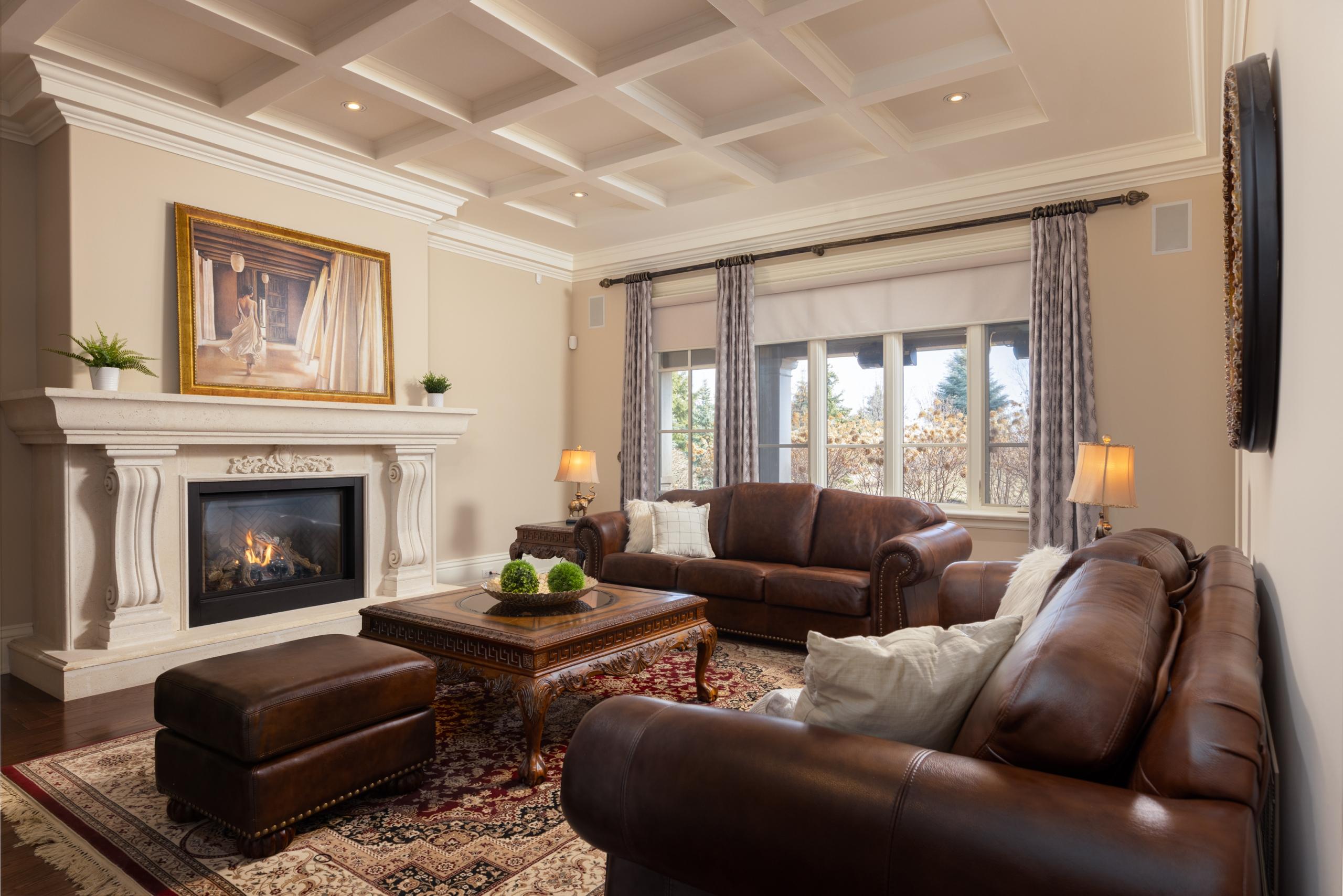 Living room featured at 2594 Bluffs Way, Burlington at Alex Irish & Associates