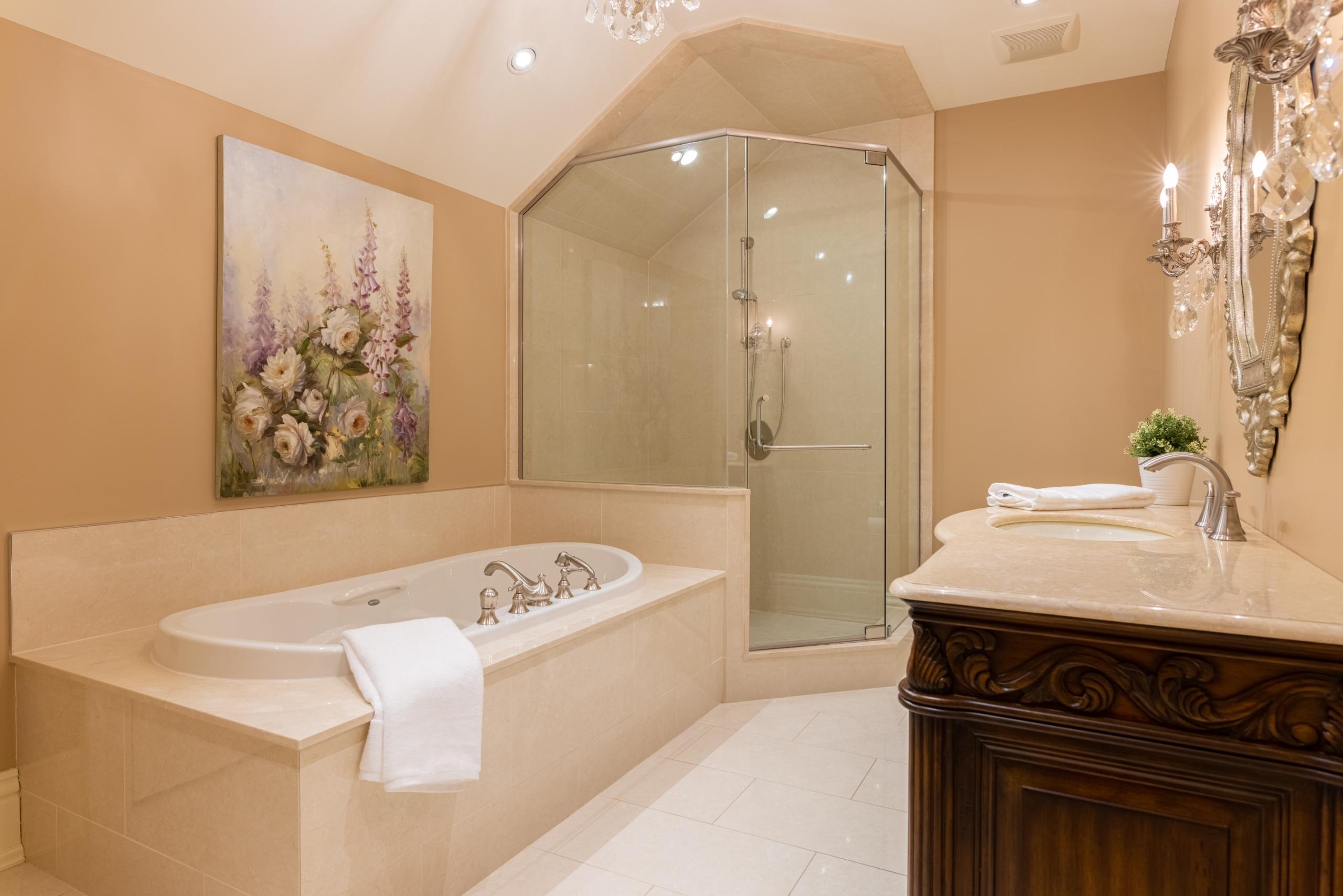 Bathroom featured at 2594 Bluffs Way, Burlington, ON at Alex Irish & Associates
