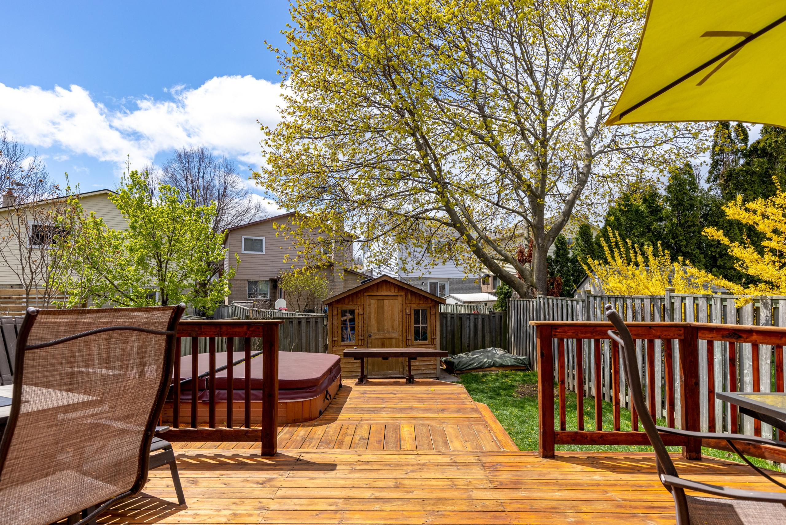 Private backyard featured at 3505 Quilter Court, Burlington, ON at Alex Irish & Associates