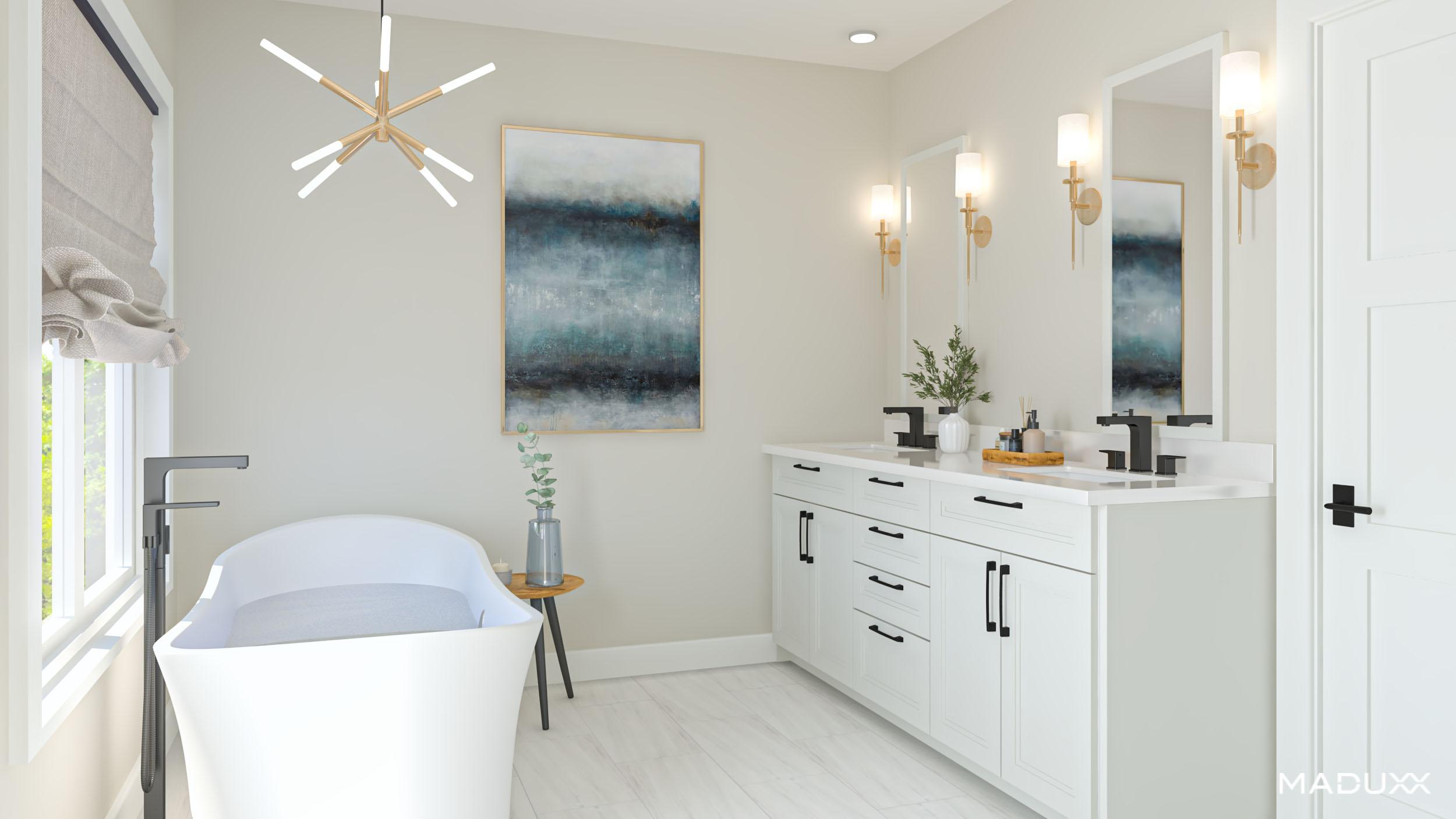 Bathroom featured at The Matheson Oakville by Alex Irish & Associates