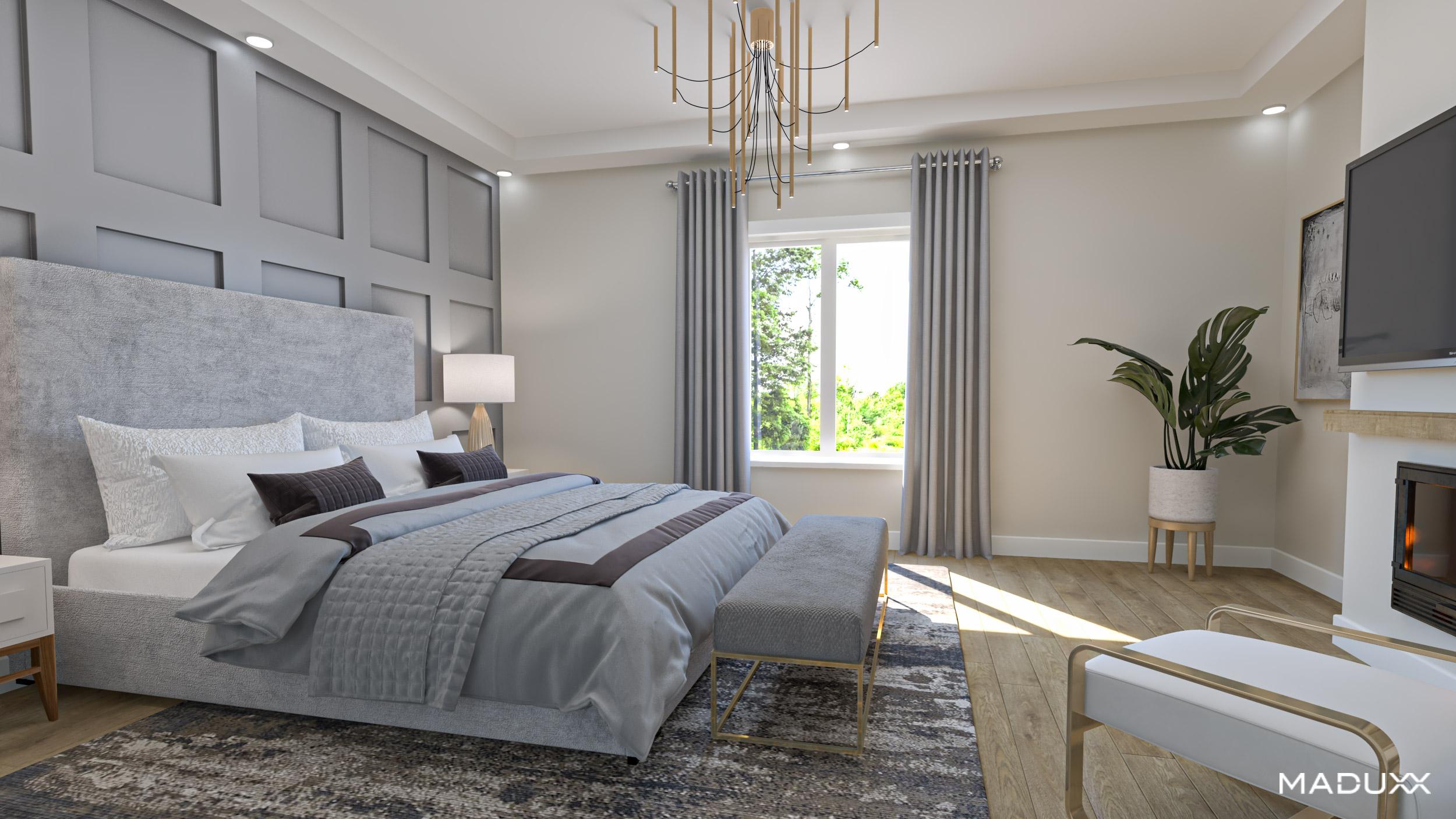 Bedroom featured at The Matheson Oakville by Alex Irish & Associates