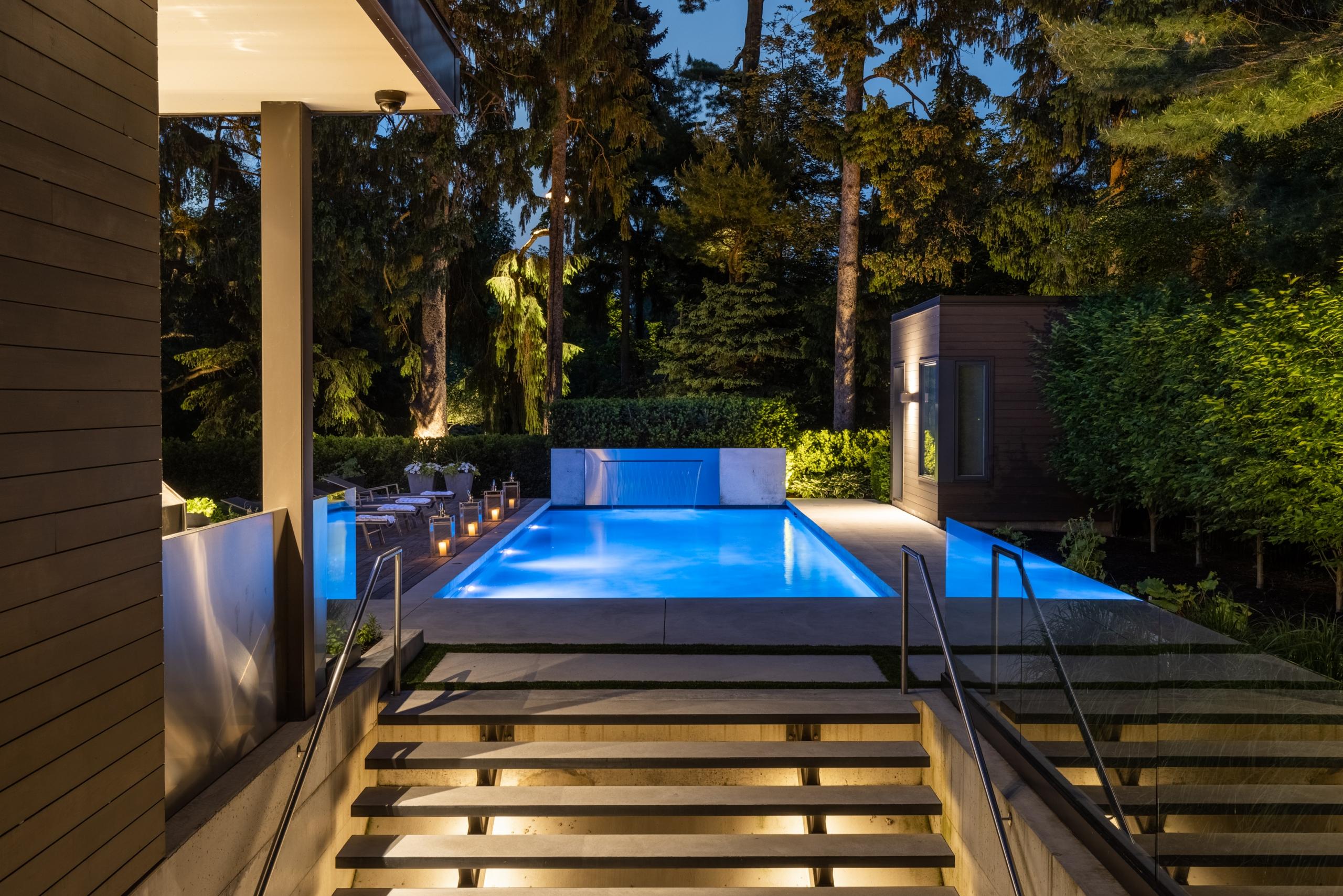 Swimming pool featured at 65 Cox Drive, Oakville at Alex Irish & Associates