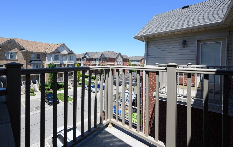 Balcony featured at 10 – 3355 Thomas Street, Mississauga, ON at Alex Irish & Associates