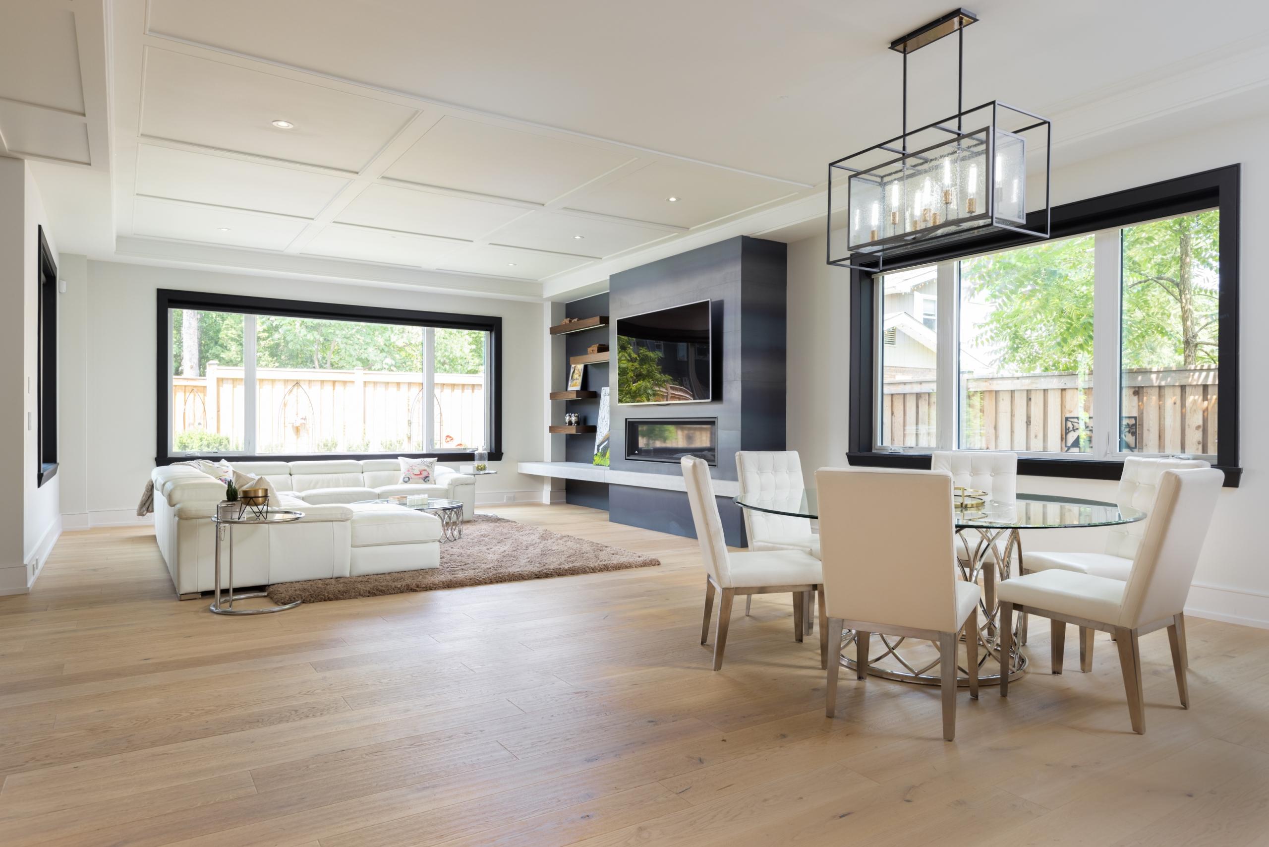 Dining room featured at 489 Lakeshore Road W, Oakville at Alex Irish & Associates