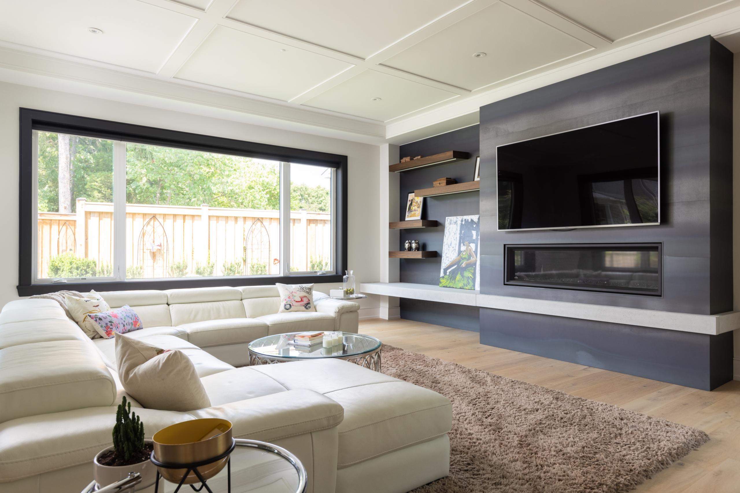 Living room featured at 489 Lakeshore Road W, Oakville at Alex Irish & Associates