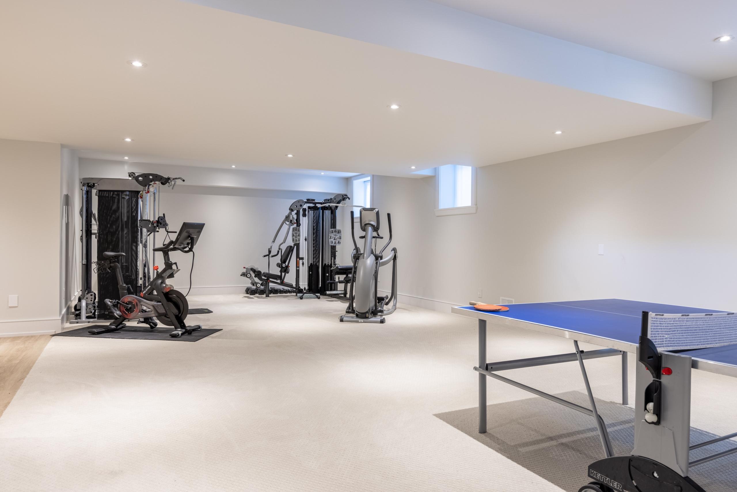 Gym featured at 489 Lakeshore Road W, Oakville at Alex Irish & Associates
