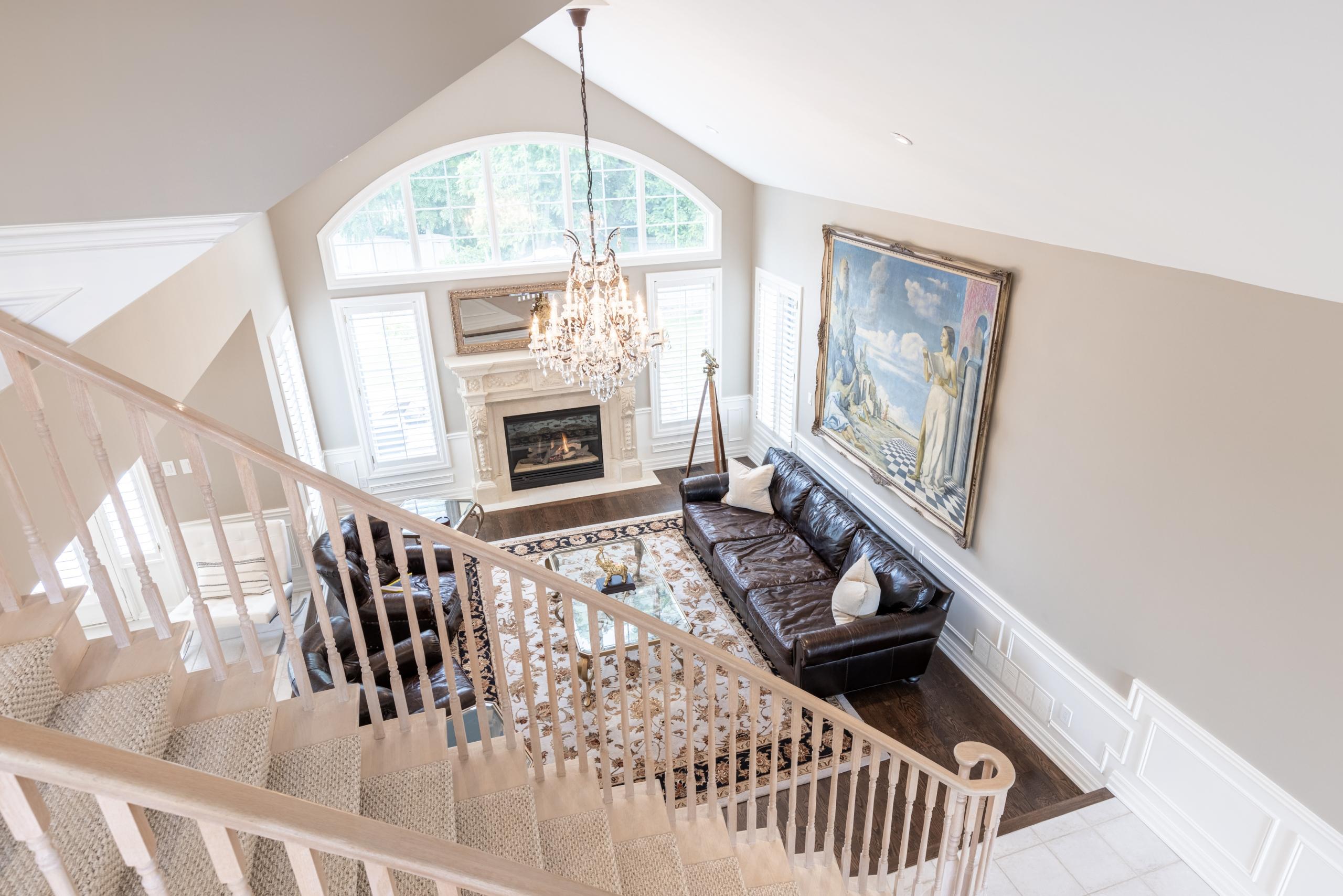 Living room featured at 956 Halsham Court, Mississauga at Alex Irish & Associates