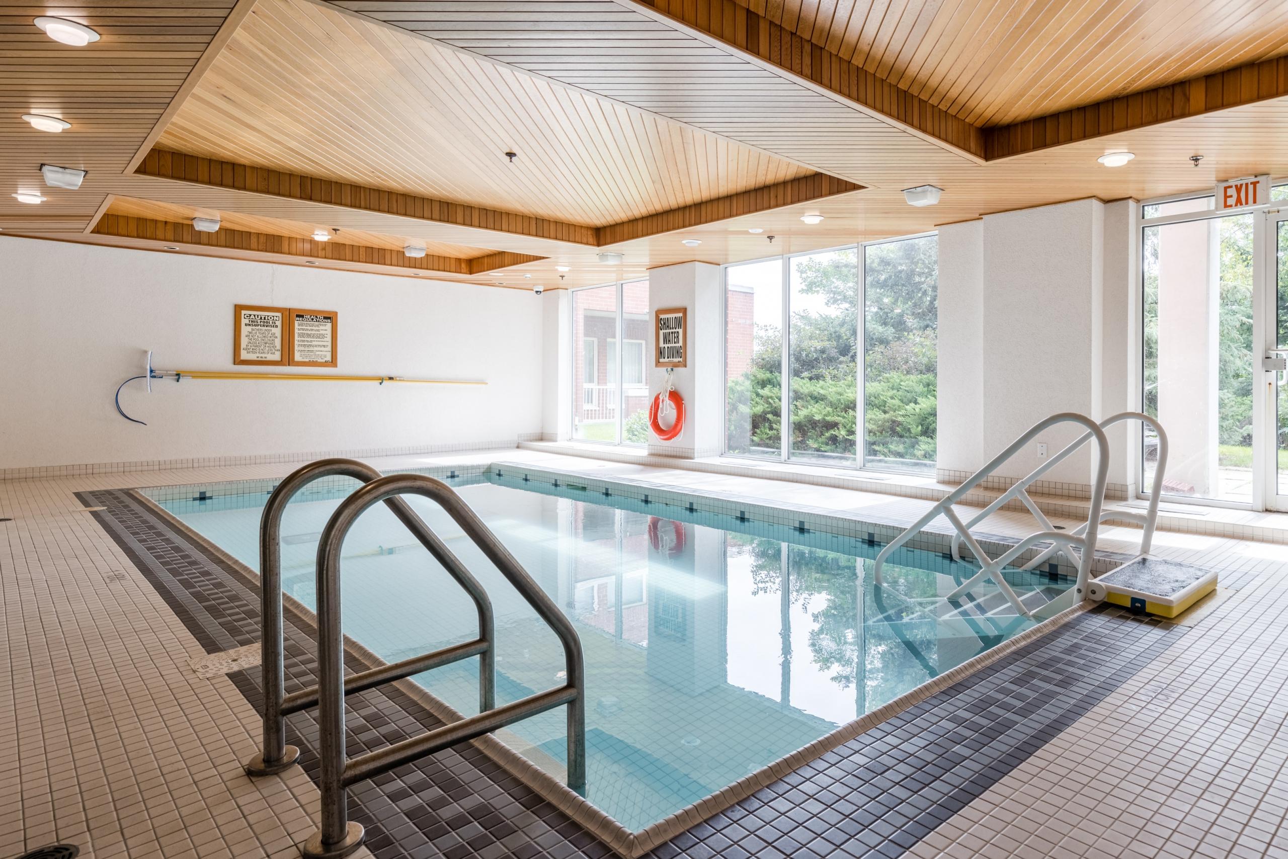 Swimming pool featured at 508-40 Old Mill Road, Oakville at Alex Irish & Associates