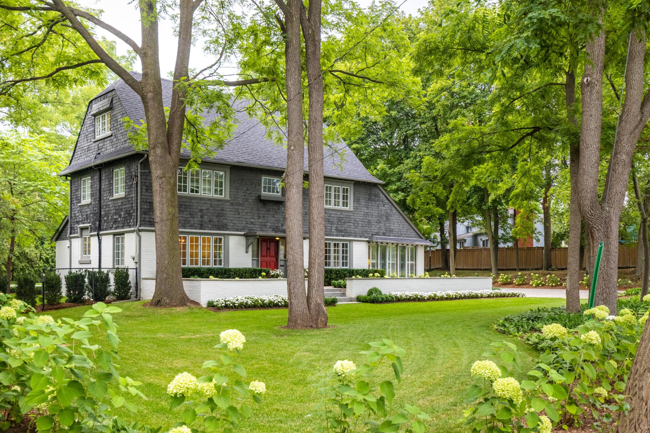 Garden featured at 573 Lakeshore Road West, Oakville, ON at Alex Irish & Associates