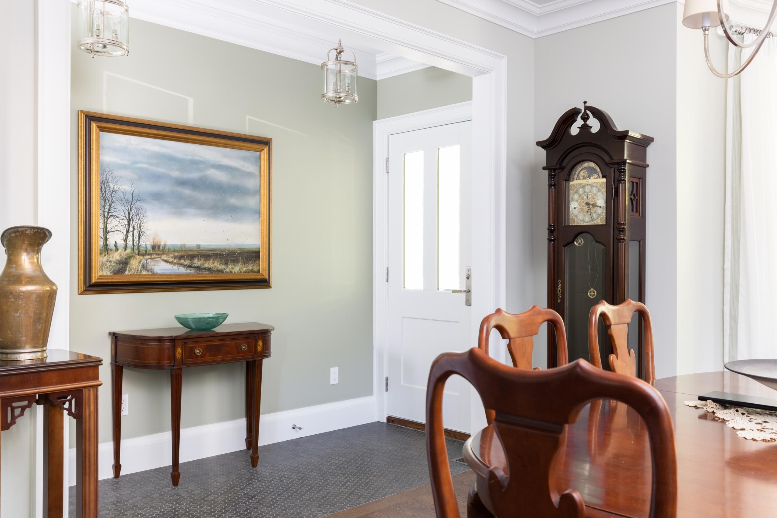 Dining room featured at 295 William Street, Oakville. Alex Irish & Associates
