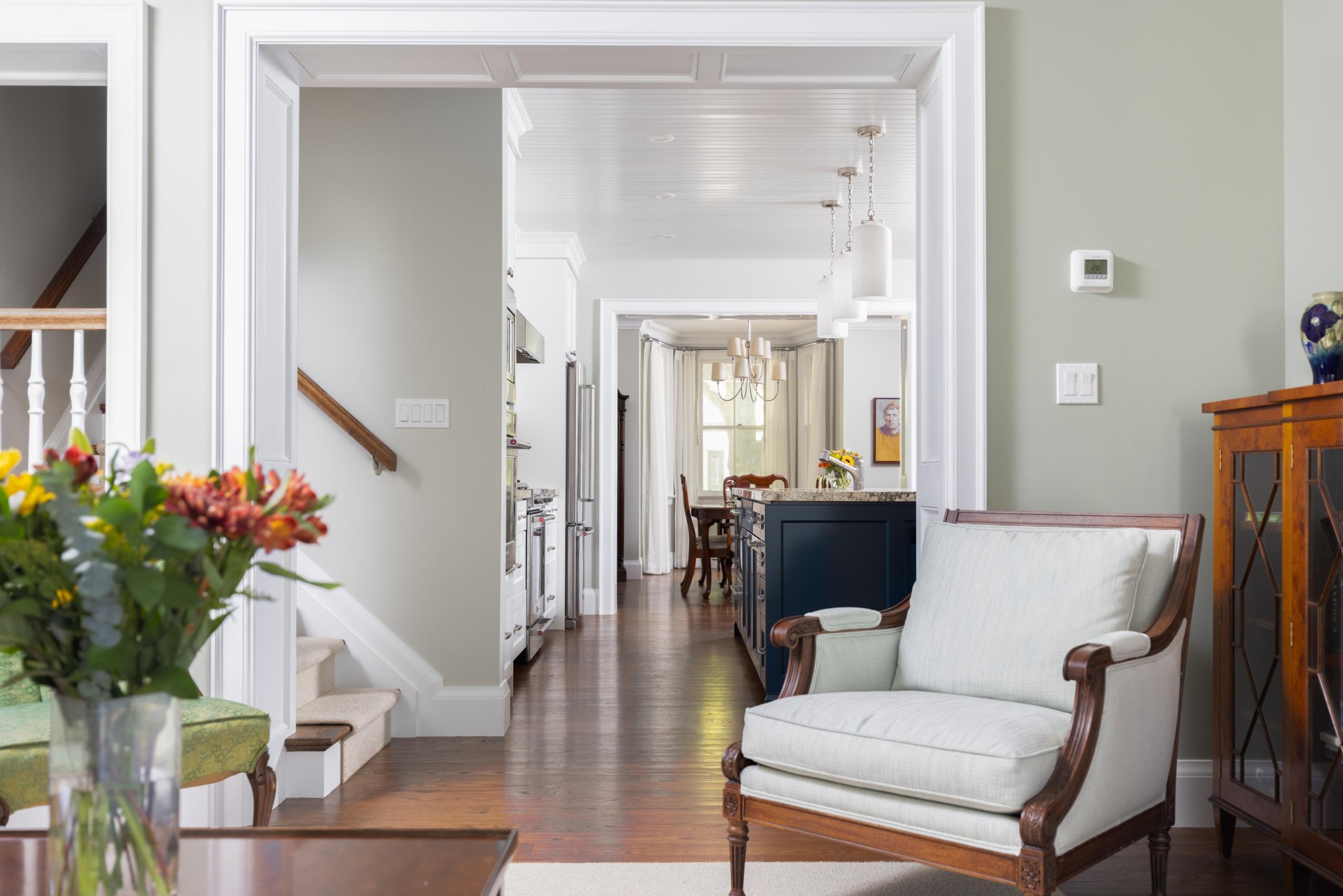 Living room featured at 295 William Street, Oakville. Alex Irish & Associates