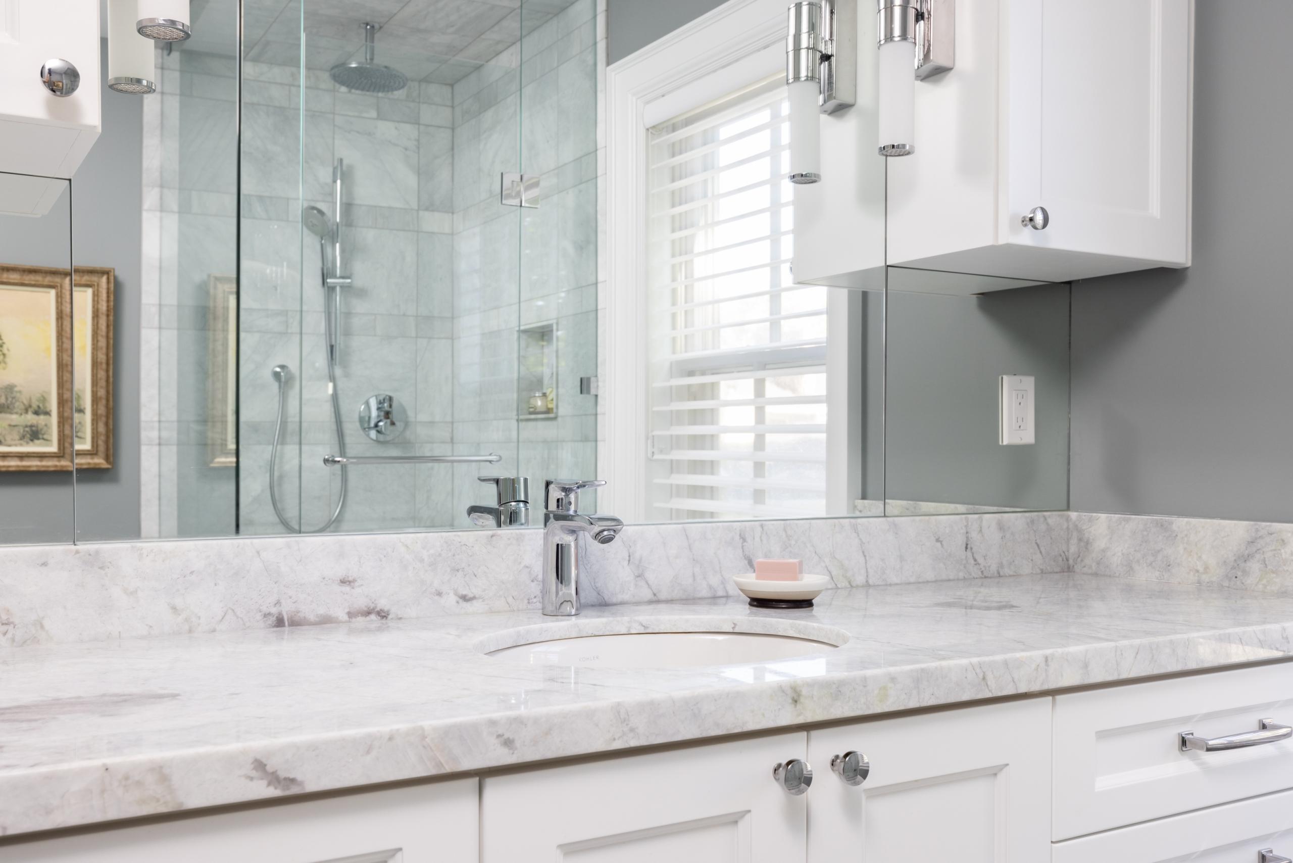 Bathroom featured at 295 William Street, Oakville. Alex Irish & Associates