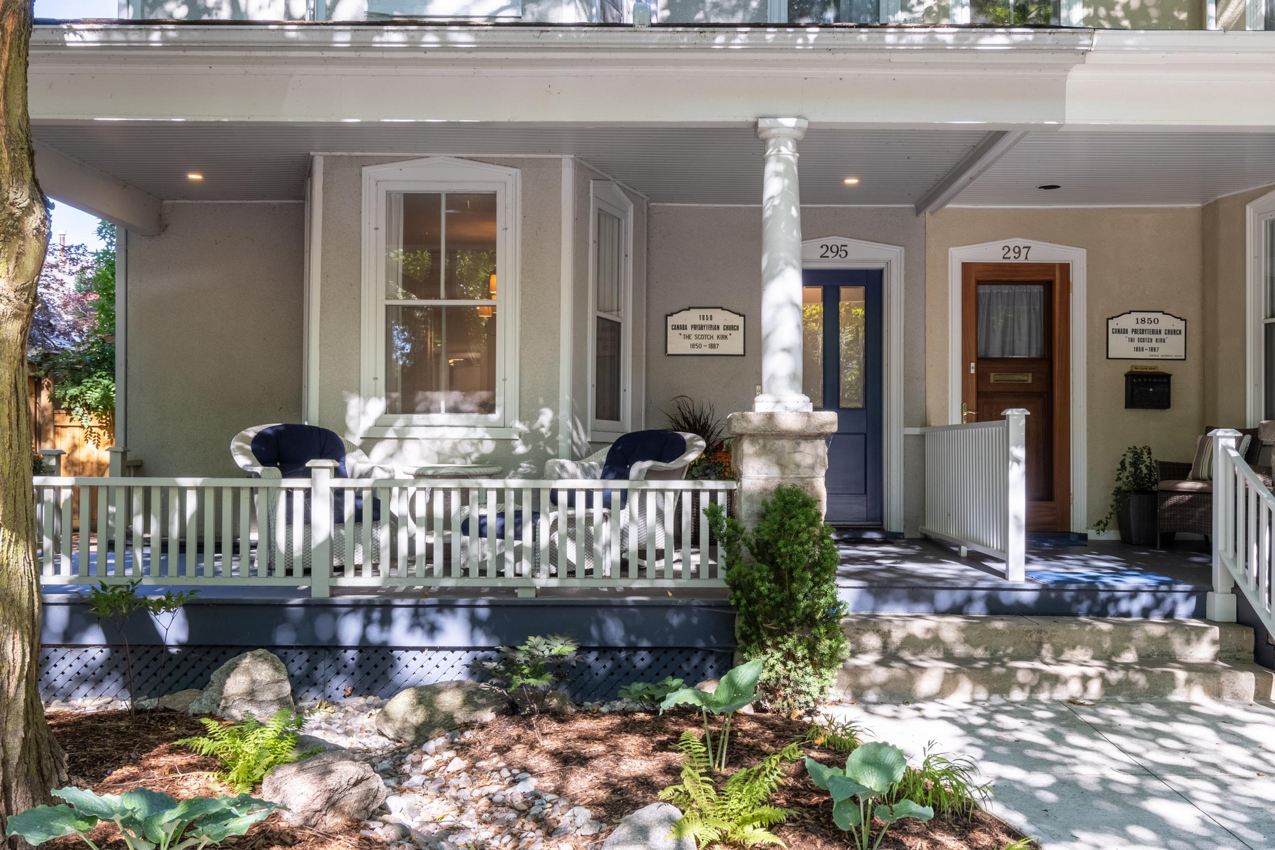 Backyard featured at 295 William Street, Oakville. Alex Irish & Associates