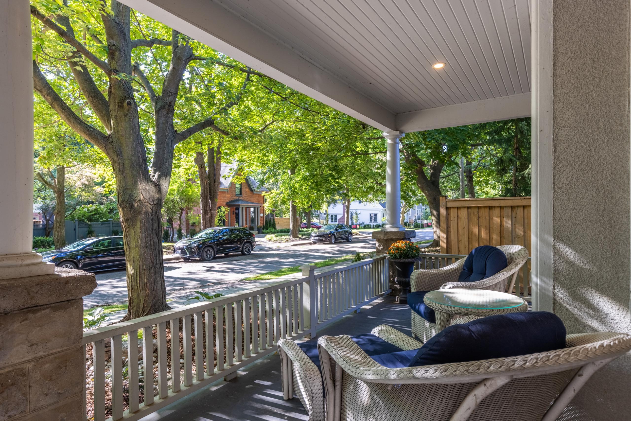 Balcony featured at 295 William Street, Oakville. Alex Irish & Associates