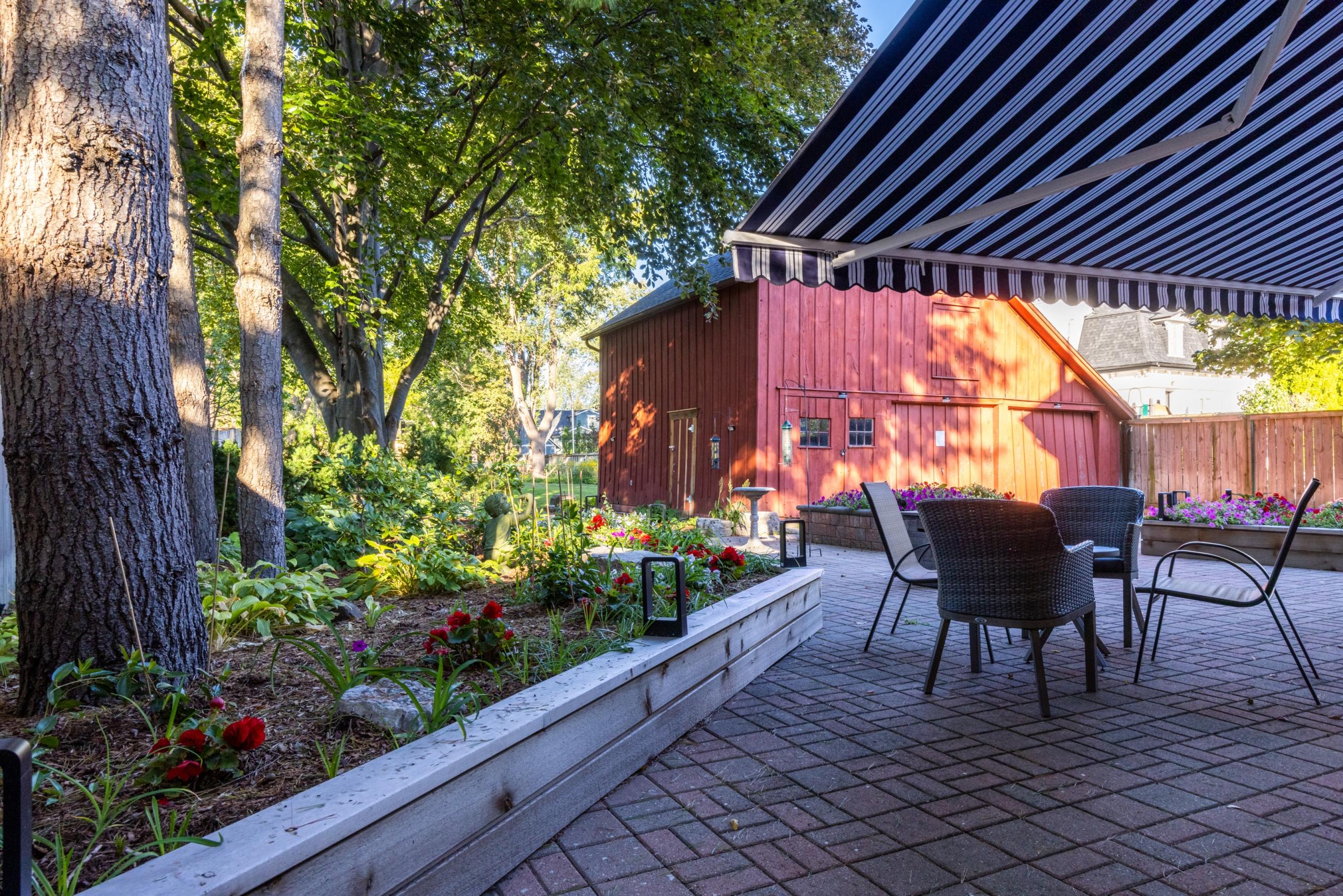 Garden featured at 349 Trafalgar Road, Old Oakville, ON at Alex Irish & Associates