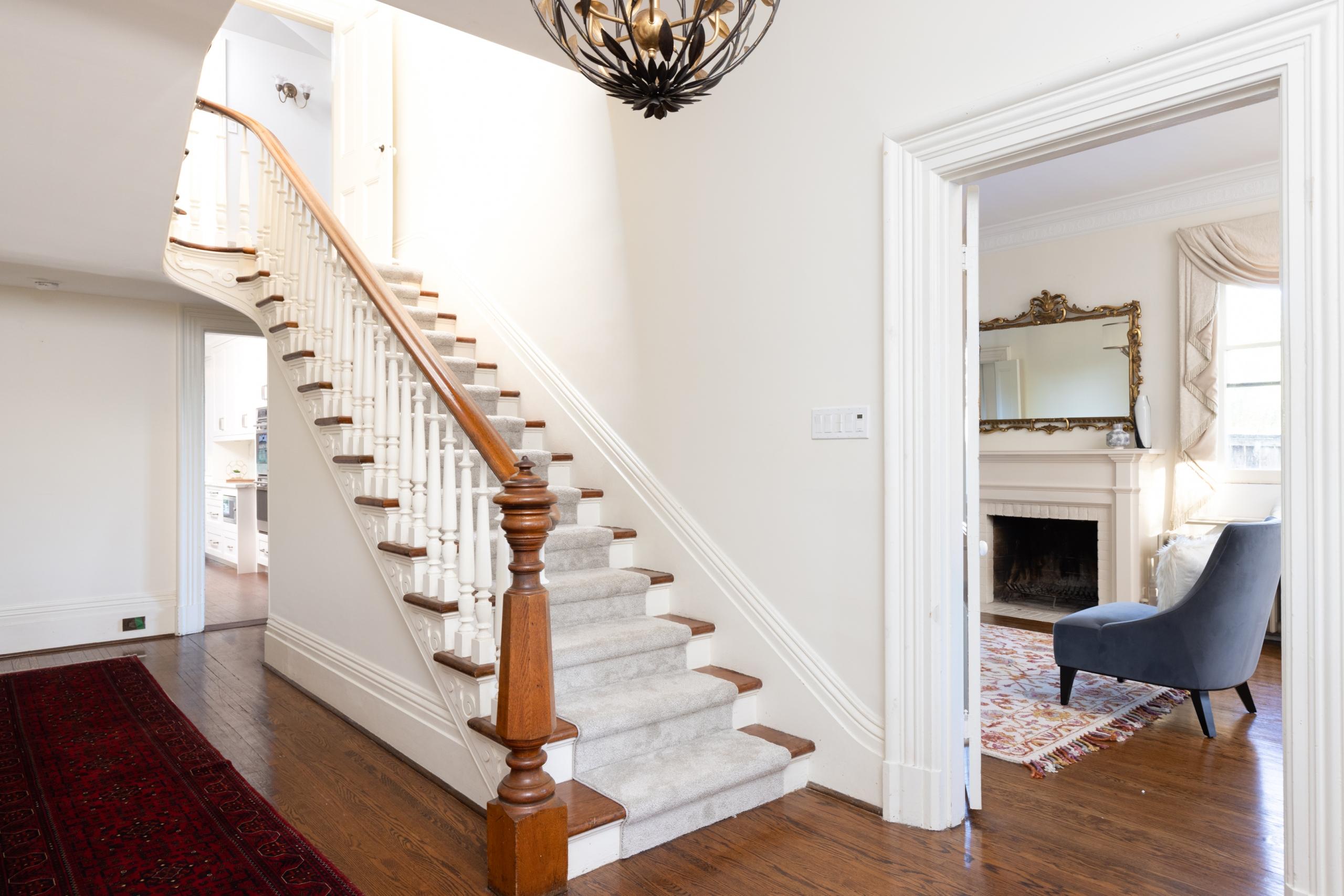 Living room featured at 349 Trafalgar Road, Old Oakville, ON at Alex Irish & Associates