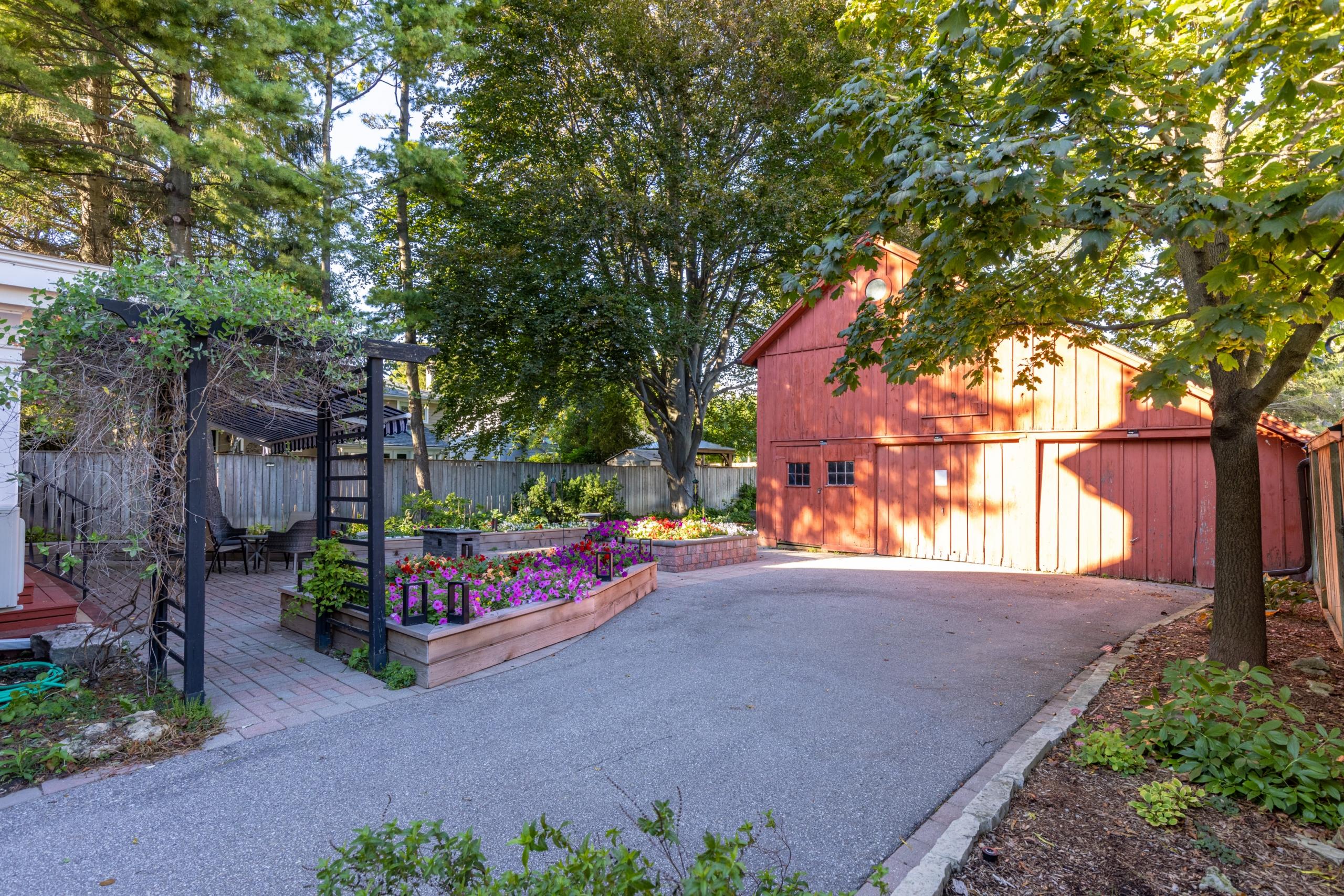 Backyard featured at 349 Trafalgar Road, Old Oakville, ON at Alex Irish & Associates